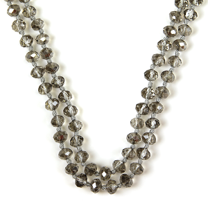 Necklace 688b 77 Pomina 30 60 inch bead necklace smoked
