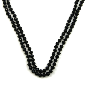 Necklace 1660 77 Pomina 30 60 inch bead necklace black