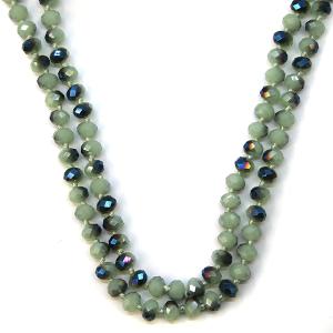 Necklace 1182 77 Pomina 30-60 inch bead necklace mint blue