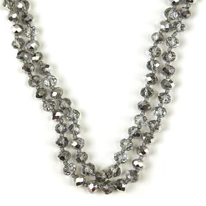 Necklace 609 77 Pomina 30 60 inch bead necklace chrome