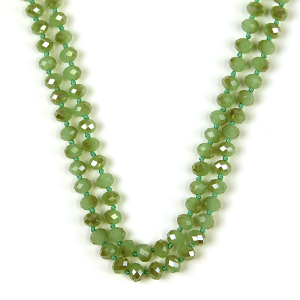 Necklace 778b 77 Pomina 30 60 inch bead necklace olive