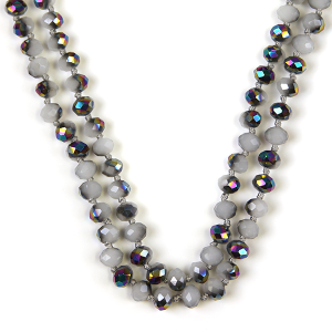 Necklace 422 77 Pomina 30 60 inch bead necklace gray ab