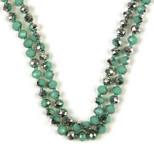 Necklace 608 77 Pomina 30 60 inch bead necklace silver turquoise