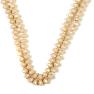 Necklace 748b 77 Pomina 30 60 inch bead necklace nude