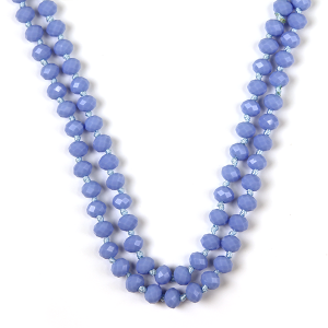 Necklace 1475a 77 Pomina 30 60 inch bead necklace light blue