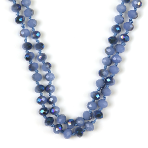 Necklace 651 77 Pomina 30 60 inch bead necklace blue ab