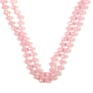 Necklace 743b 77 Pomina 30 60 inch bead necklace pink