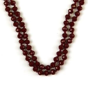 Necklace 269e 77 Pomina 30 60 inch bead necklace burgundy