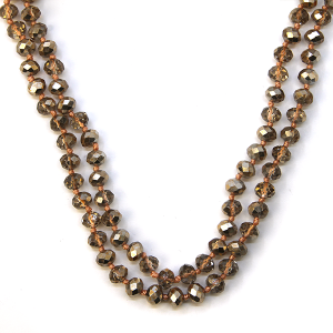 Necklace 1175b 77 Pomina 30-60 inch bead necklace rose