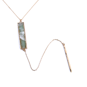 Necklace 113 78 Arcoba marble bar mint green