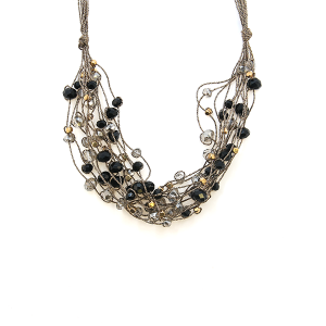 Necklace 427 78 A Project string bead accents black
