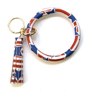 Keychain 077d 78 WISH America USA Keychain Wrist