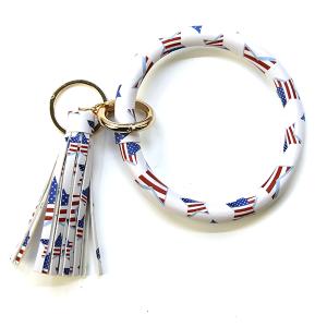 Keychain 022b 78 WISH America USA Keychain Wrist