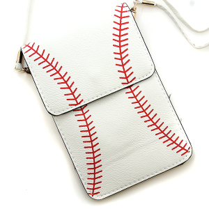 Baseball Pouch Crossbody Leather