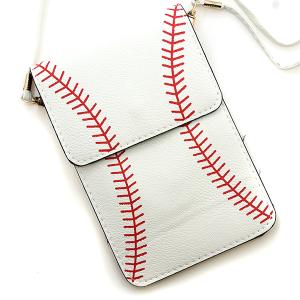 Baseball Pouch Crossbody Leather