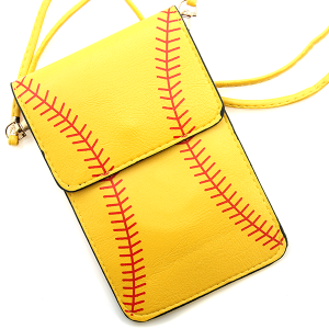 Softball Pouch Crossbody Leather