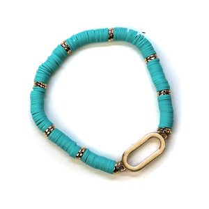 Bracelet 375 78 A Project Contemporary Bracelet Stretch teal
