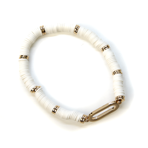 Bracelet 358 78 A Project Contemporary Bracelet Stretch white