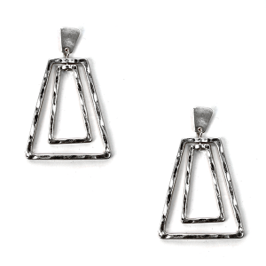 Earring 2716b 78 A Project contemporary minimal earrings silver