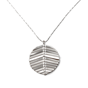 Necklace 811a 78 A Project contemporary ridge necklace silver