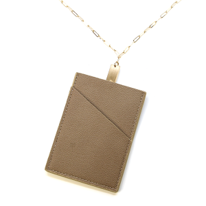 Necklace 823m 78 A Project ID Card Holder Necklace leather brown
