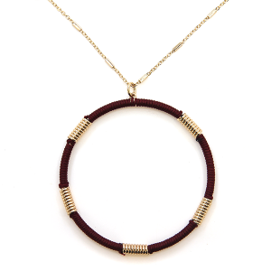 Necklace 2124a 78 A Project contemporary hoop necklace wine