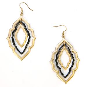 Earring 237a 79 LucyLou filigree earrings drop gold black
