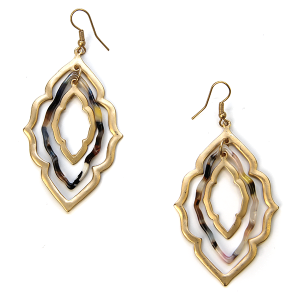 Earring 230a 79 LucyLou filigree earrings drop gold multicolor 2