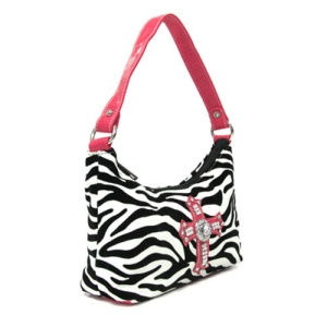 cs 82005 handbag zebra cross fuchsia