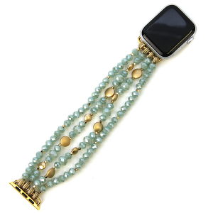 Watch Band 092e 82 Avant contemporary stretch bead watch band 38mm 40mm mint
