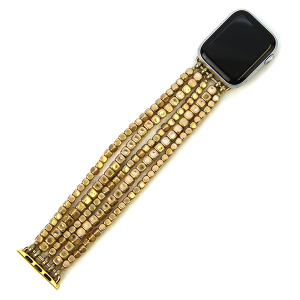 Watch Band 167a 82 Avant contemporary stretch bead watch band 38mm 40mm gold