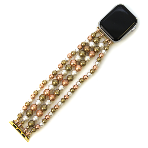 Watch Band 052d 82 Avant contemporary stretch bead watch band 38mm 40mm gold siilver rose
