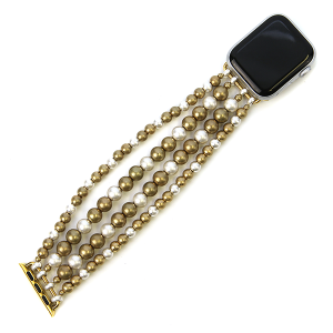 Watch Band 059c 82 Avant contemporary stretch bead watch band 38mm 40mm gold silver