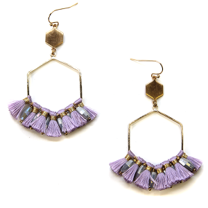 Earring 2817g 82 Avant contemporary hex drop tassel earrings lavender