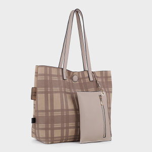 Isabelle 87842 reversible fashion tote sand beige
