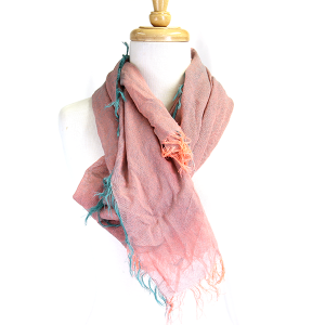 Scarf 120 neon tassel gradient light weight scarf teal pink