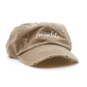 Cap 060g 98 D&Y mom life hat distressed brown