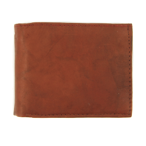 Simple bifold wallet 120 brown