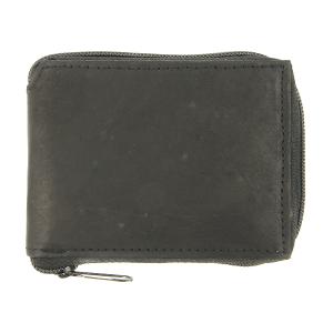 Zipper bifold wallet 9605 black