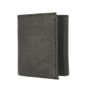 Simple trifold wallet A52 black