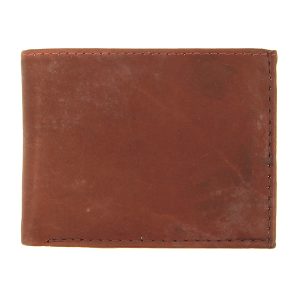 Simple bifold wallet A996 red brown