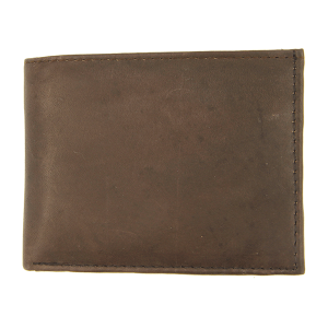 Simple bifold wallet B45 chocolate brown