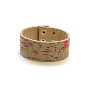 Bracelet 401j 99 Regina leather band bracelet splatter pink