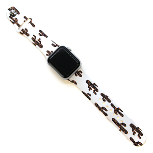 Watch Band 042e 38mm 40mm leopard cactus white
