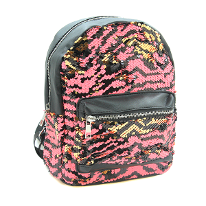 Fashion Collection ABG487 reversible sequin mini backpack pink