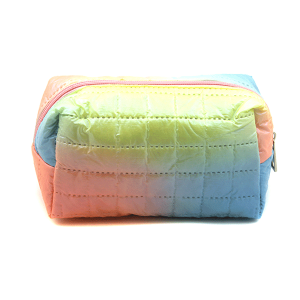Fashion Collection ABG603 quilted cosmetic pouch blue yellow
