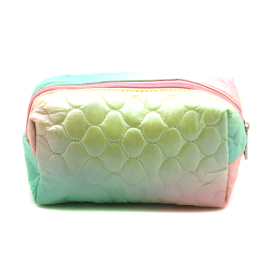 Fashion Collection ABG603 quilted cosmetic pouch green pink