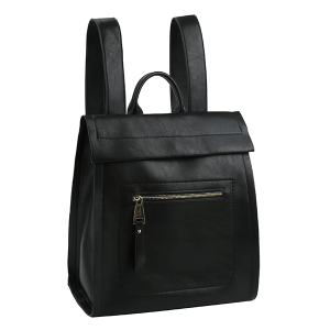 Handbag Republic ALM-0032 modern chic zip backpack black