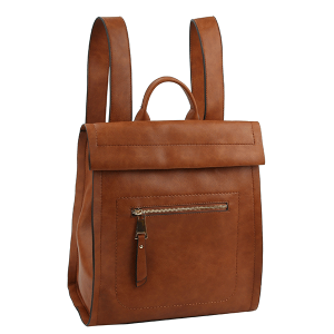 Handbag Republic ALM-0032 modern chic zip backpack brown