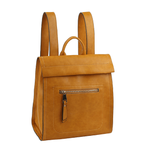 Handbag Republic ALM-0032 modern chic zip backpack tan